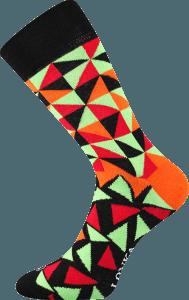 Bunte Socken mit Dreiecken